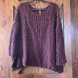 Free People Loose Weave Oversized Sweater